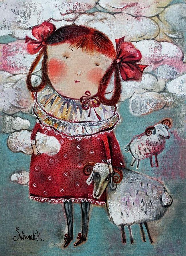 Попьем чайку... Художник - иллюстратор Анна Силивончик