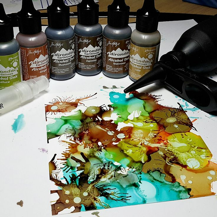 Janey's Cards: Alcohol Inks & Yupo (again)