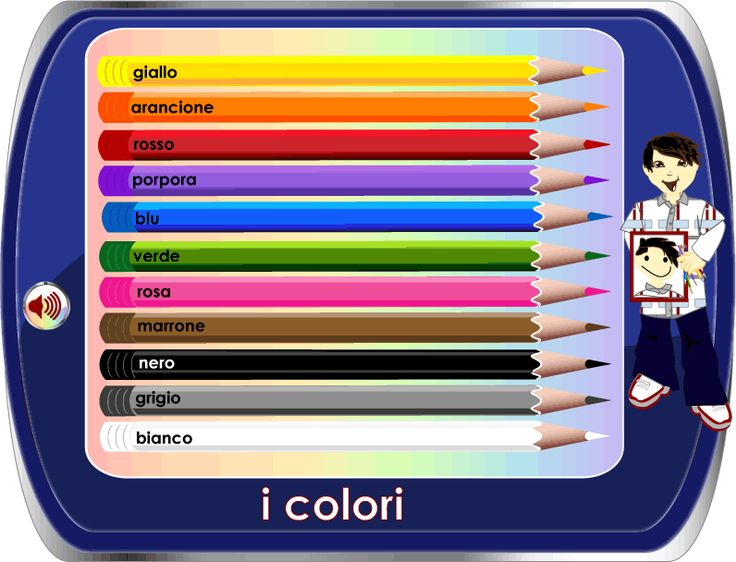 learn the colors in italian + other good stuff for kids