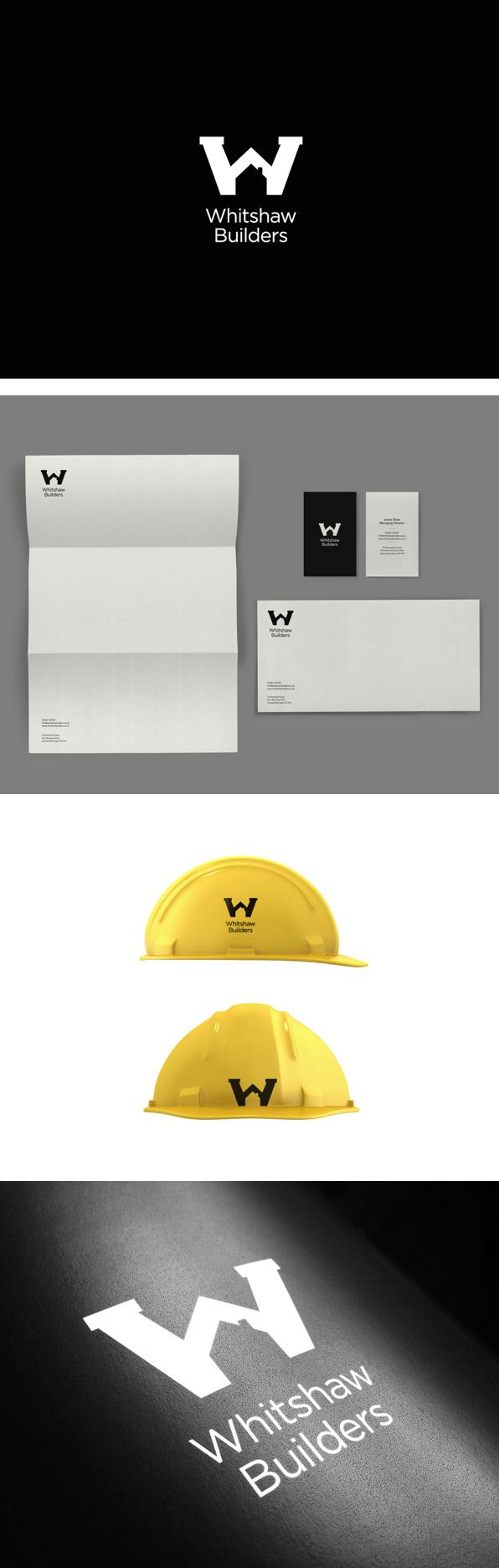 Whitshaw Identity by Kyle Wilkinson | #stationary #corporate #design #corporatedesign #identity #branding #marketing < repinned by www.BlickeDeeler.de | Take a look at www.LogoGestaltung-Hamburg.de