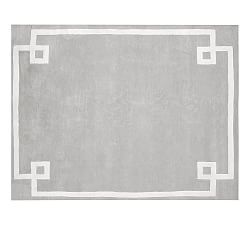 Gray Hotel Bordered Rug - 8'×10' or 9' × 12'