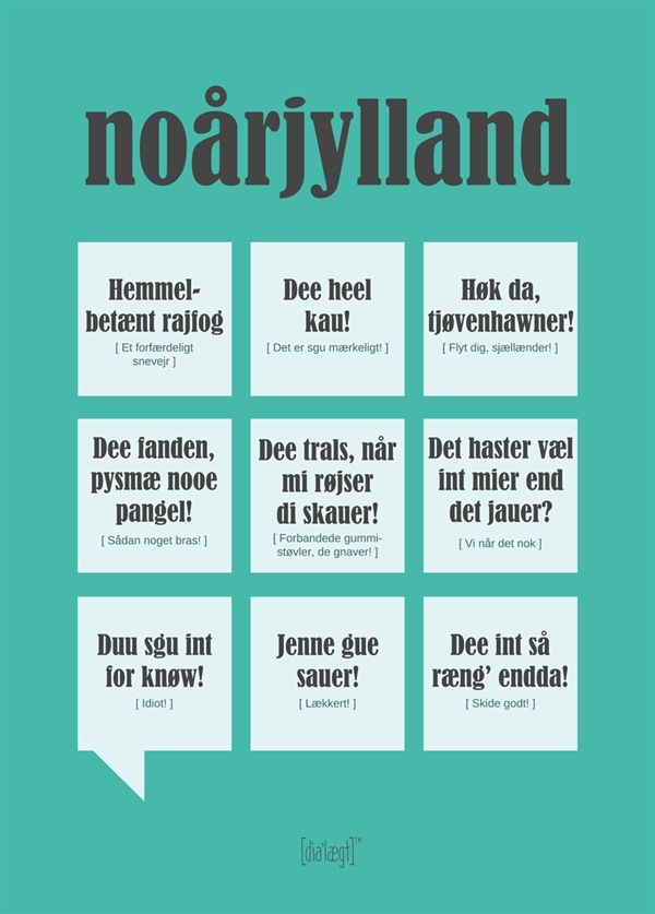dialægt noårjylland