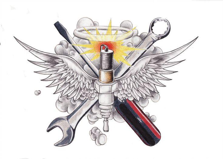 Featured mechanic tattoo bike tattoos tool tattoo