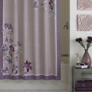 Add A Feminine And Tranquil Touch To Your Bathroom With The Zara Fabric Shower Curtain Featuring