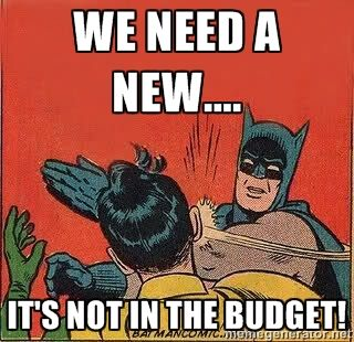 It's not in the budget! - batman slap robin | Meme Generator