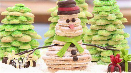 Décor d'hiver en biscuit cuillère