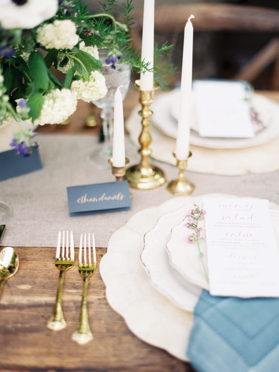 Dreamy Wedding Inspiration | Dusty Blue and Metallics