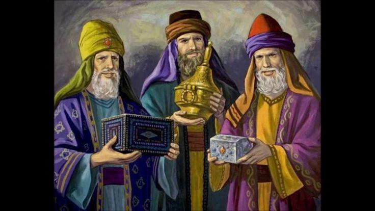 De wijzen geven geschenken.