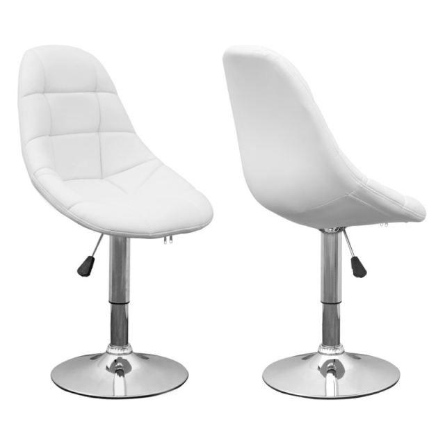 CHAISE CENTURY DESIGN BLANC LOT DE 2 - Achat / Vente chaise Pvc, acier chromé, polyuréthane, polyester - Cdiscount