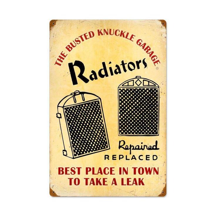Radiator Service Metal Sign