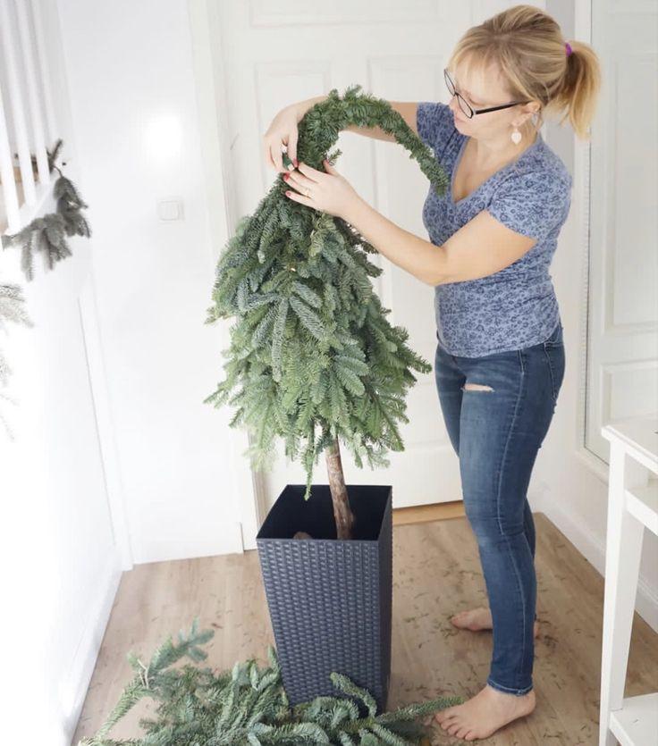 Anleitung Weihnachtsbaum mit spitzer Kappe   – Weihnachtsdeko