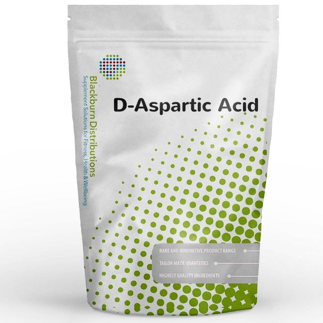 D-Aspartic Acid is one of two forms of the amino acid Aspartic Acid, the other form is L-Aspartate. http://www.blackburndistributions.com/d-aspartic-acid-powder.html
