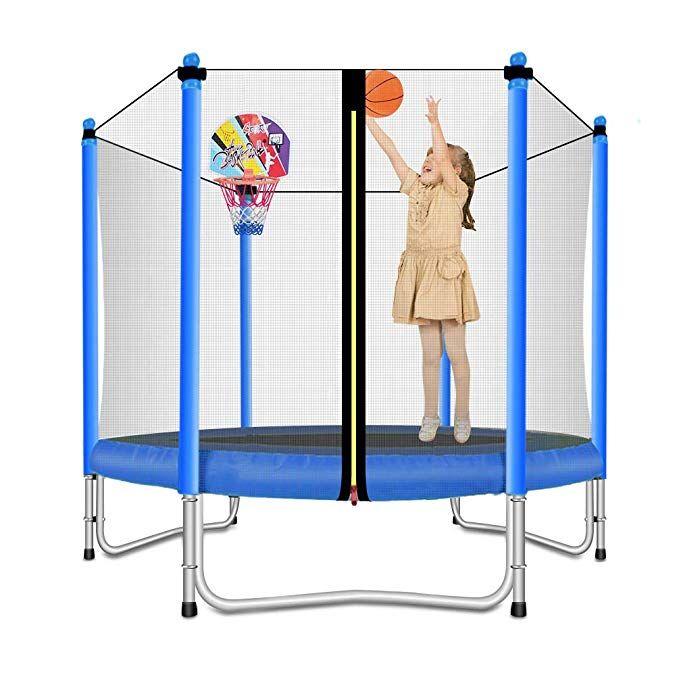Lovely Snail Trampoline With Basketball Hoop Trampoline For Kids Blue 5 Feet Basketball Hoop This Sport Tra Kids Trampoline Indoor Trampoline Basketball Hoop