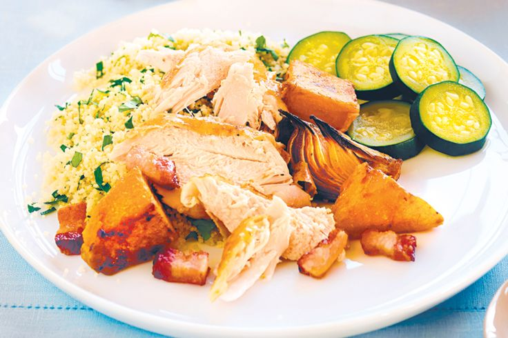 This chicken and pumpkin meal is best prepared in a slow cooker but instructions are included for cooking in the oven.
