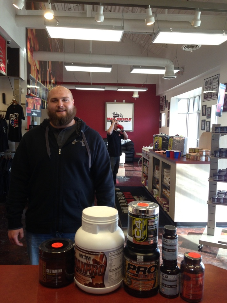 With the help of Max Muscle products I hold the NE USAPL Raw Powerlifting Heavyweight total Record.-Bryan Benzel    Brian holds numerous powerlifting records and has won numerous strongman contests as well.     No matter your game, no matter the goal, when you're mission is to dominate, come visit with a Certified Nutritionist and get the answers to you need to get you the results you deserve!     Visit us online at maxmuscle.com, download our mobile app in the app store, or call…