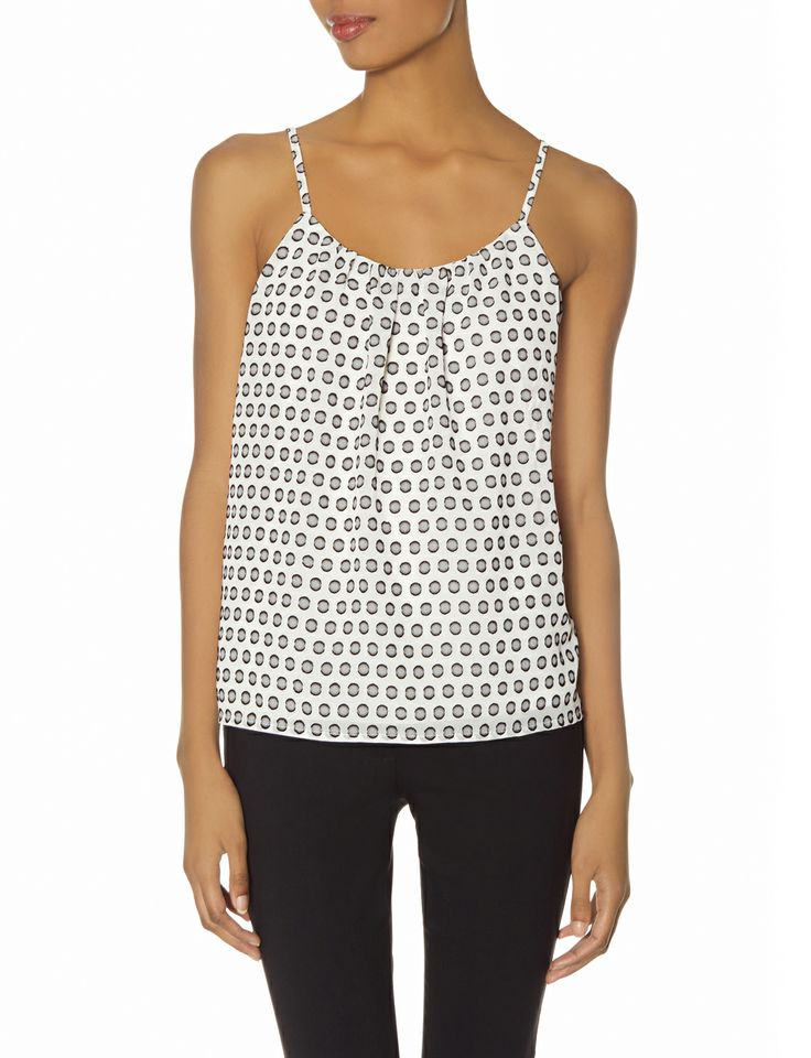 Polka Dot Layering Cami   Women's Tops   THE LIMITED