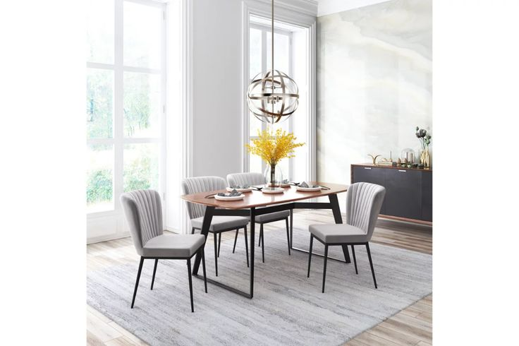 Toriano Velvet Dining Chair Set Of 2 Ashley Furniture Homestore Dining Room Chairs Upholstered Velvet Dining Chairs Dining Chairs