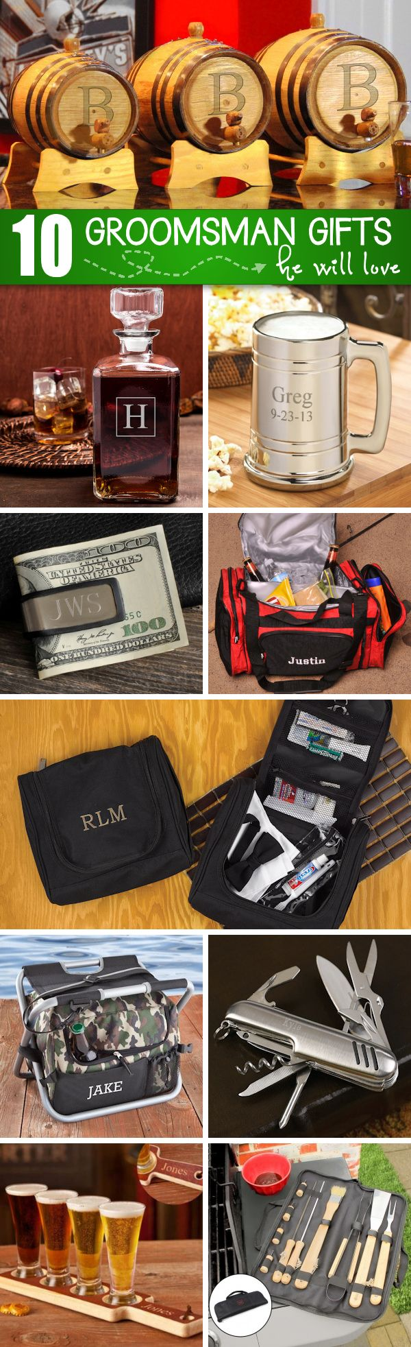 10 Groomsmen Gifts that He'll Love!