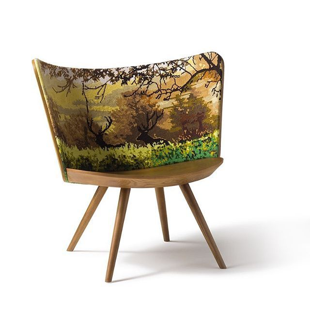 #Swedish designer #JohanLindsten has drawn on #Scandinavian #needlecraft traditions to create the #EmbroideryChair.  Created in #2016, the #ashwood #chairs have been created with four different #embroidered designs, one to match each #season. Lindsten sees design as a medium to bring thoughts and emotions into physical form, and it's an approach certainly visible in these chairs with their vivid seasonal imagery.  Available from @cappelliniofficial