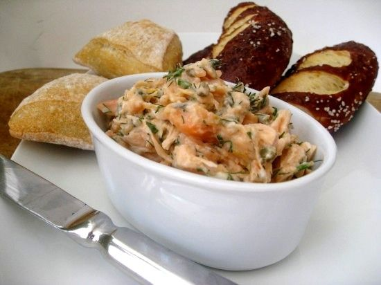 Salmon Rillette -- best served with champagne or white wine: White Wines, Food Food