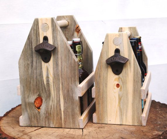The Rustic Compromiser 22oz Wooden Four Pack by ReImagineUpCycling