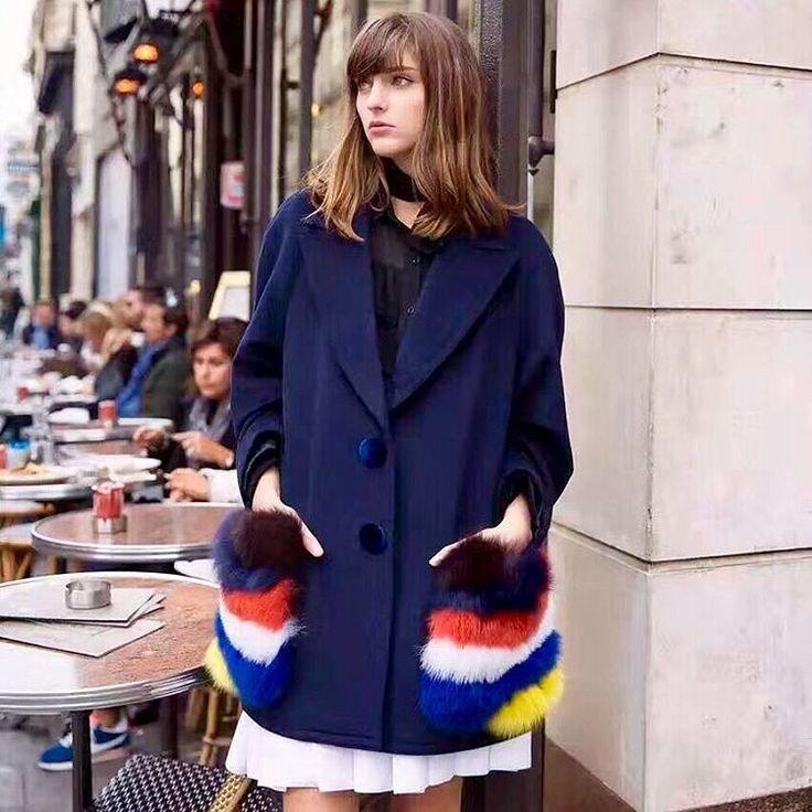 Раскрасим осень яркими красками, 🌿стильное синие пальто от #Fendi 💕с меховыми разноцветными кармашками, подарит хорошее☺ настроение и теплые обьятия😻💥 🎁💻Web:http://want-i-want.ru 📱Tel./WhatsApp/Viber: +79035336623 #yaxochu #wantiwant #мода #luxury #autumn #shoot #clothes #podium #одежда #shopping #dress #brand #bag #shoes #fashion