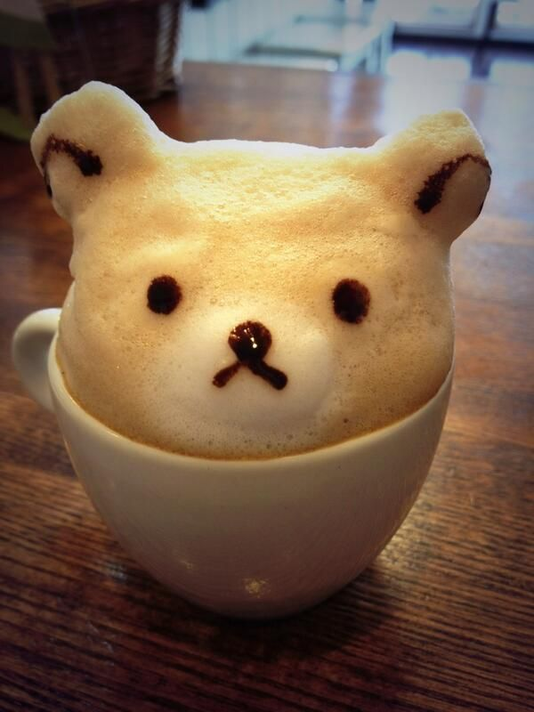 Teddy Bear 3D Latte Art