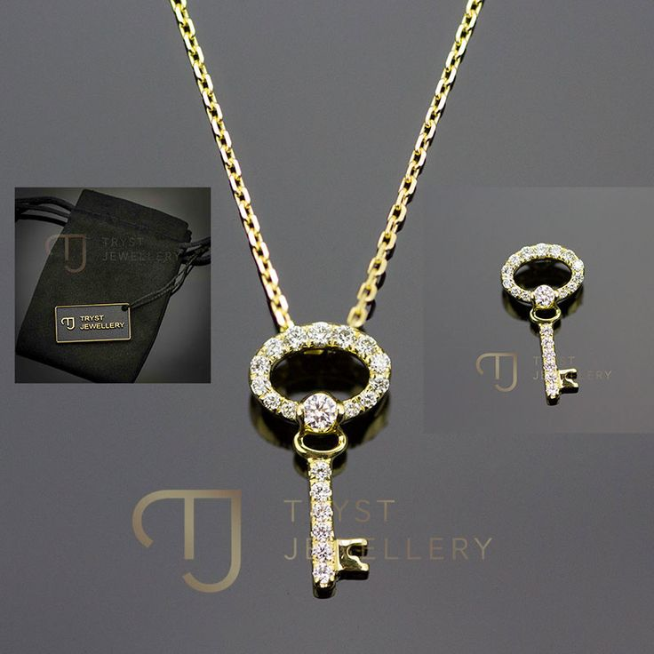 Genuine 9ct Yellow Gold Padlock and Key Pendant 9nlgLmNe