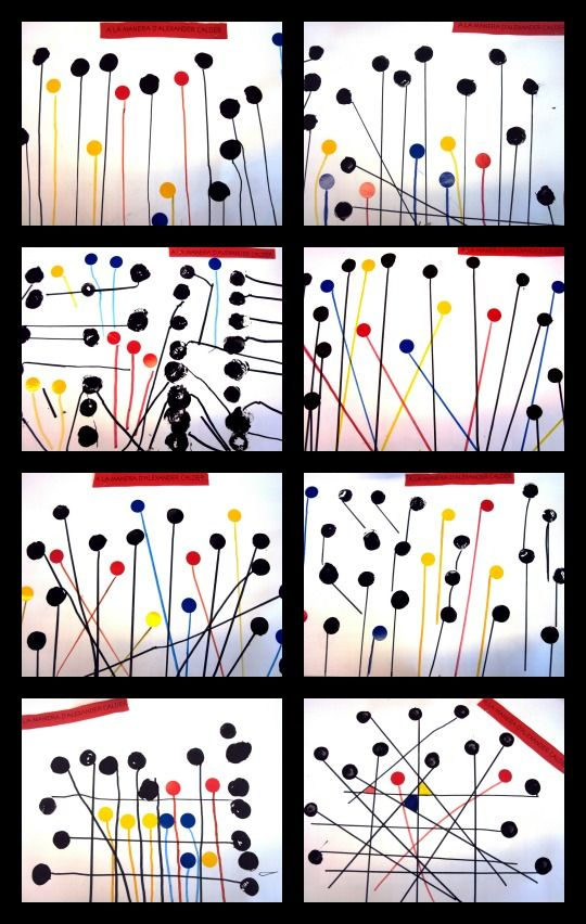 Després d'haver observat i analitzat algunes obres d'Alexander Calder, els alumnes de 1r han realitzat les seves pròpies produc...