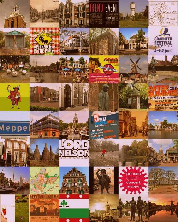 Meppel sightseeing op doek van ProjectFem op Etsy, €75,00