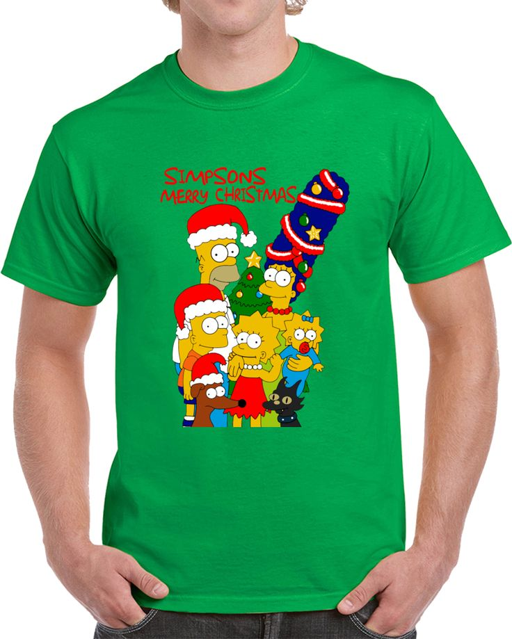 Simpsons Merry Christmas  T Shirt