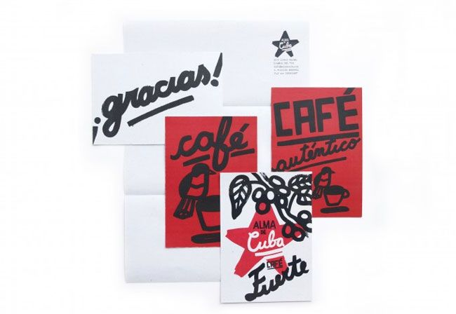 A new single-origin coffee brand — Alma de Cuba / Contributed by Donna Amey of London-based Big Fish / logo / identity / branding / packaging / design / bold / sketches / thick / red / white / black