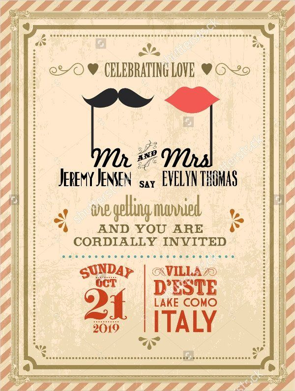 Free Vintage Wedding Invitation Templates 21 Vintage Invitatio In 2020 Vintage Wedding Invitation Cards Retro Wedding Invitations Vintage Wedding Invitations Templates