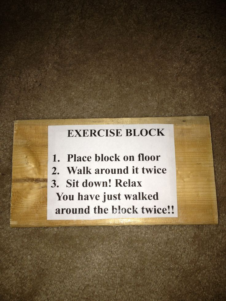 Exercise Block......used this as a white elephant gift
