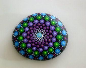 Unique ooak 3D dot art object-mandala von RockArtiste auf Etsy