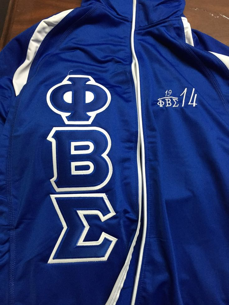 Phi Beta Sigma track jacket via GreekExpressions D9 Embroidery Specialis…. Click on the image to see more!