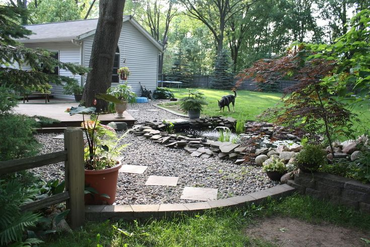 Pea Gravel In Dog Yard River Rock Or Pea Gravel