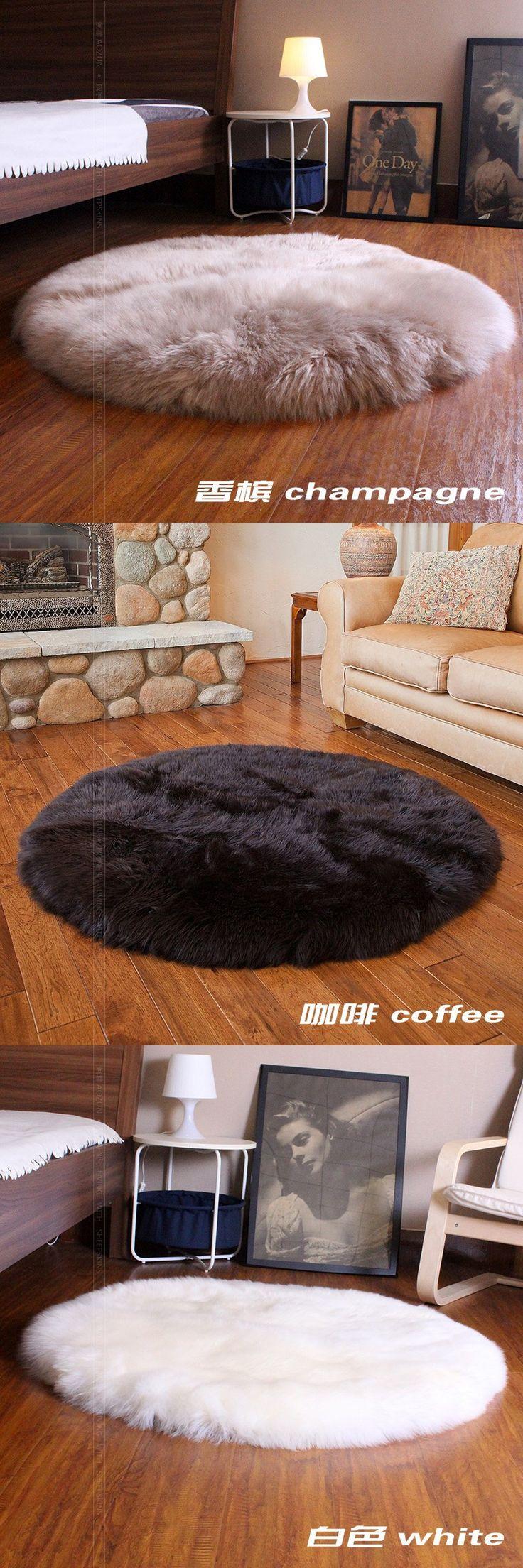 Big round shape sheep fur throw for furniture upholstery, bedding sheepskin rug, luxury sheep skin ground mat free shipping $199