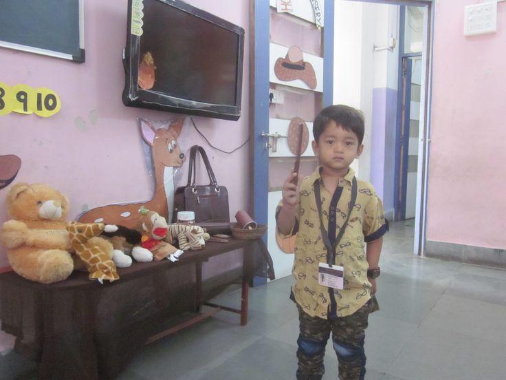 Nursery child perform brown colour concept in school. #kids #dreaming #achievement