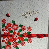 Cheerful red birthday card.