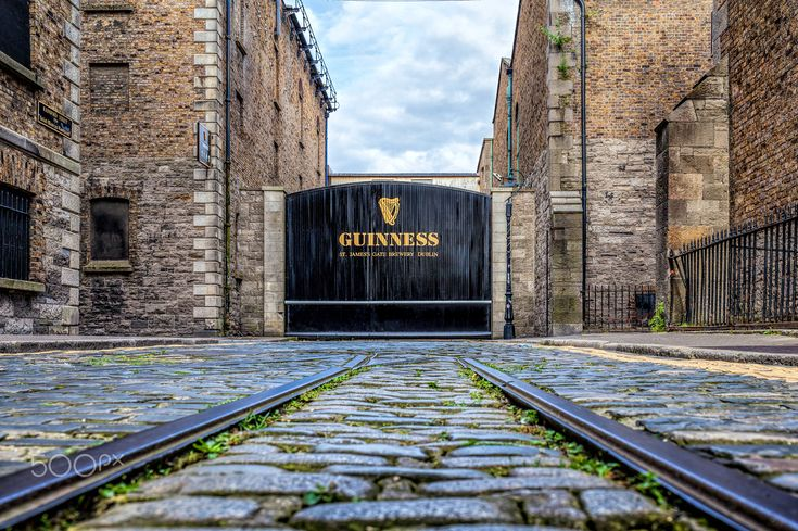 Guinness The home of the black stuff - The old tram line running towards Guinness Brewery.