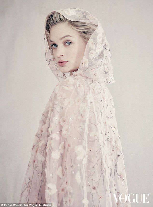 Masterpiece: The beautiful pictures, by Italian fashion photography icon Paolo Roversi, were released on Sunday