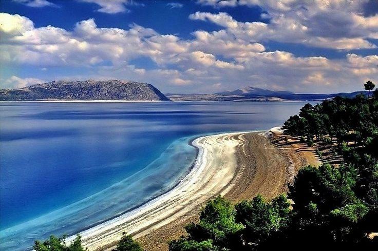 Levent Yersal :salda lake-SALDA GÖLÜ Lake Salda (Salda Gölü), Burdur, TÜRKİYE