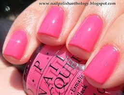OPI Strawberry Margarita- classic, perfect bright pink creme