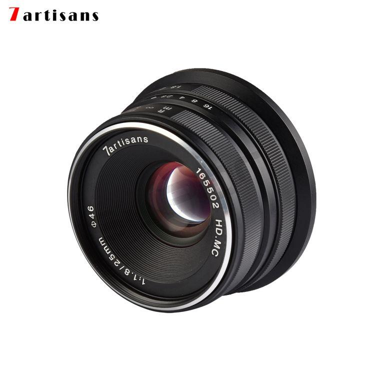 7artisans Lens 25mm / F1.8 Prime to All Single Series for Sony E Mount /Canon EOS-M Mount/Fuji FX Mount /M43 Panasonic Olympus