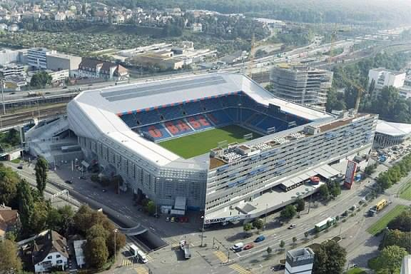 St Jacob stadium in Basel home of FC Basel.