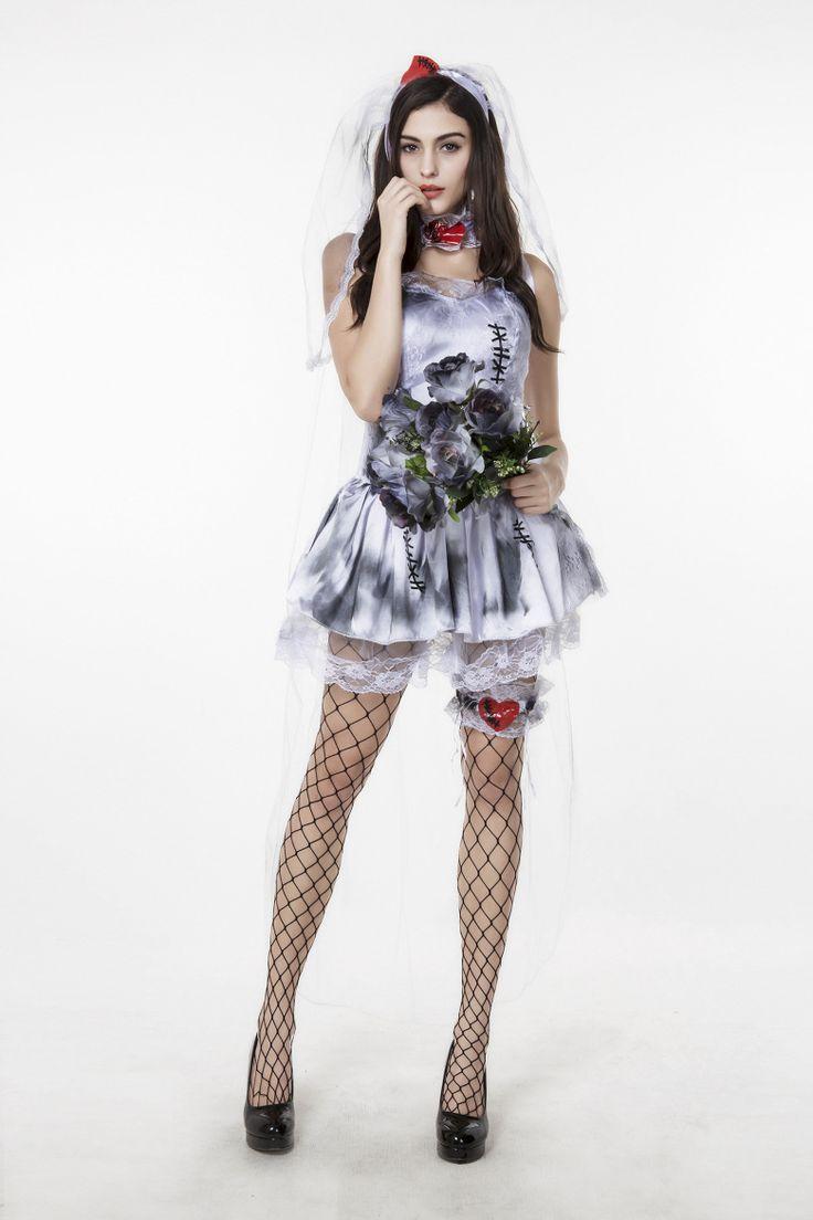 ハロウィン お花嫁 鬼新娘 幽霊 コスチューム衣装 大人用 吸血鬼 ヴァンパイア-Halloween-trw0725-0307…