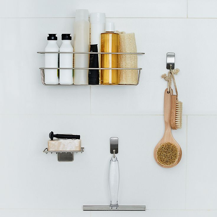 Keep Bath Items Within Reach While Looking Neat And Orderly With The Command™ Bath Satin Nickel
