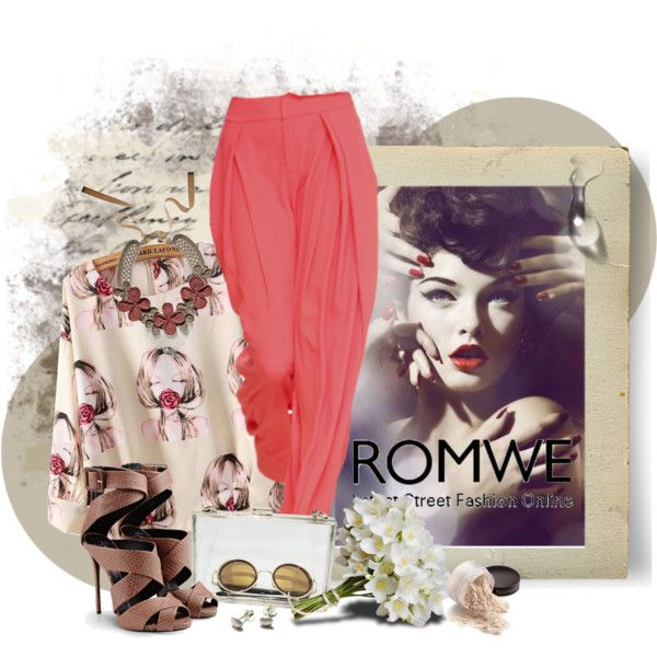 Romwe by marcialaraia on Polyvore featuring moda, Giuseppe Zanotti, MARGOT, Michelle Oh, Laura Mercier and Chloé