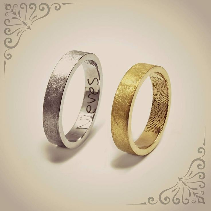 Gravats moooolt personalitzats… la teva pròpia cal·ligrafia… la teva empremta digital… o el que tu vulguis  - Gravados muuuuy personalizados… tu propia caligrafía… tu huella digital… o lo que tu quieras  #Alianzas #aliances #weddingrings #emmmi #emmmijoies #mataro #mataró